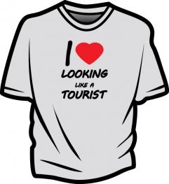Tricou - I love looking like a tourist
