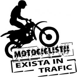 Autocolant Atentie la motociclisti 2