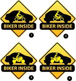 Autocolant Biker inside