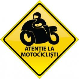 Autocolant Atentie la motociclisti 3