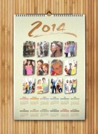 Calendar A4 personalizat cu poza ta - FV61