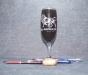 Pahar sampanie personalizat prin gravura laser