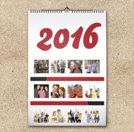 Calendar A3 personalizat cu poza ta - V56
