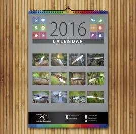 Calendar A3 personalizat cu poza ta - V63