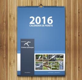 Calendar A3 personalizat cu poza ta - V64