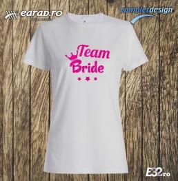 Tricou Team Bride 1 alb