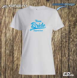 Tricou Team Bride 2 alb