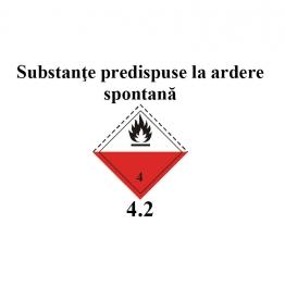 substante predispuse la ardere spontana 25 x 25 cm