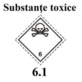 Eticheta substante toxice 25 x 25 cm